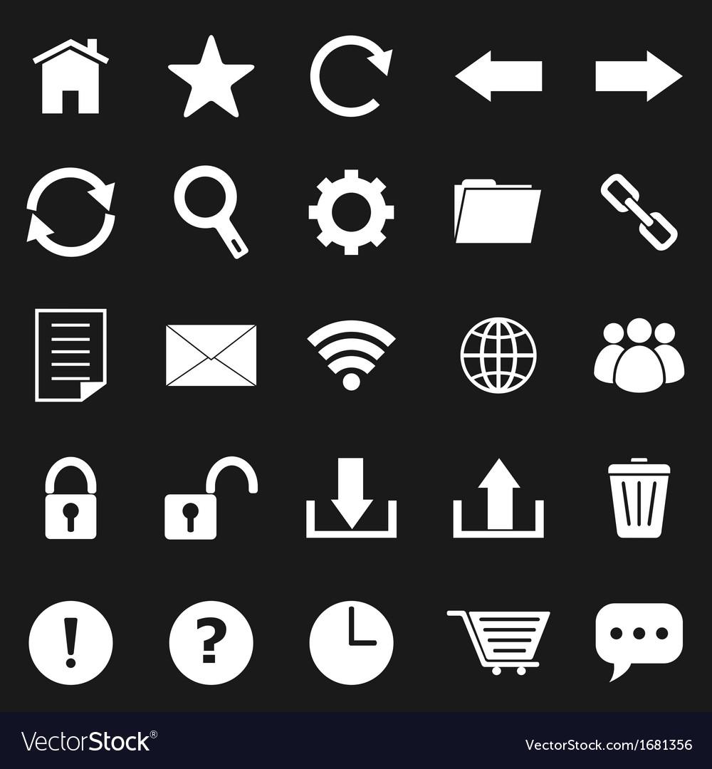 Tool bar icons on black background.