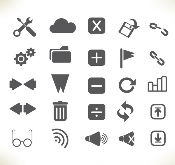 Toolbar Interface icons Free vector in Adobe Illustrator ai.