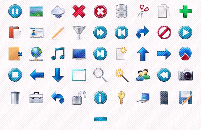 Free toolbar icons. Download free taskbar icons..