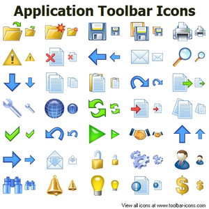 Application Toolbar Icons.