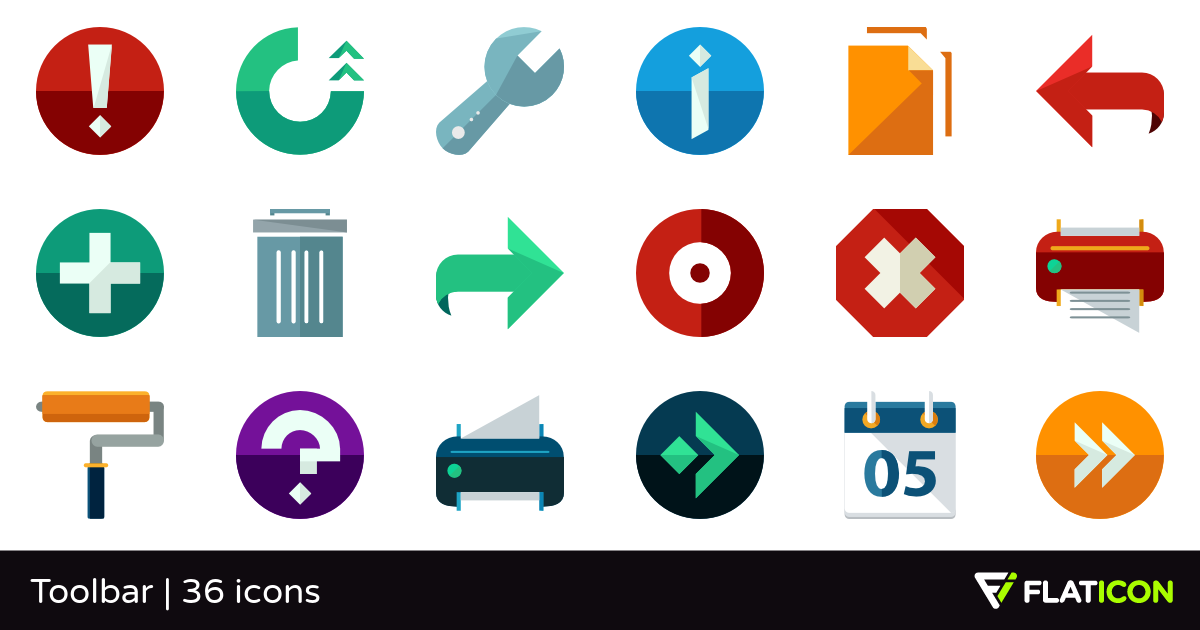 Toolbar 36 free icons (SVG, EPS, PSD, PNG files).
