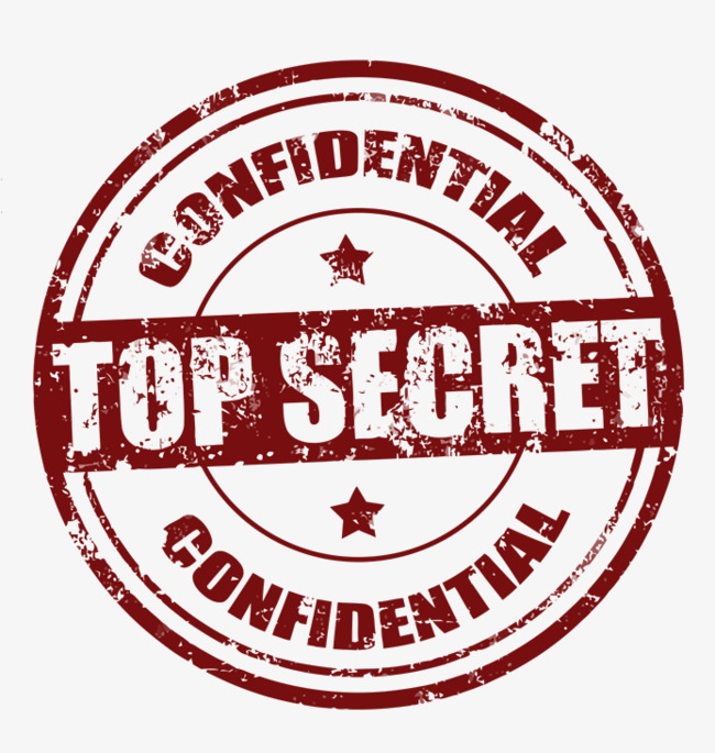English top secret stamp PNG clipart.