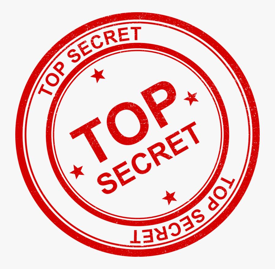 Transparent Clipart Top Secret.