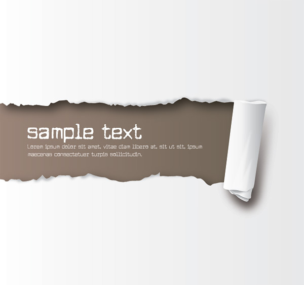Free Ripped Paper Vector Clipart Graphic.