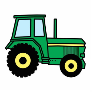 Free Green Tractor Clipart.