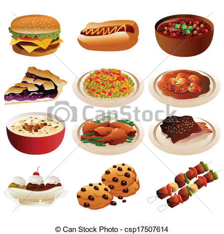 American Food Clipart.