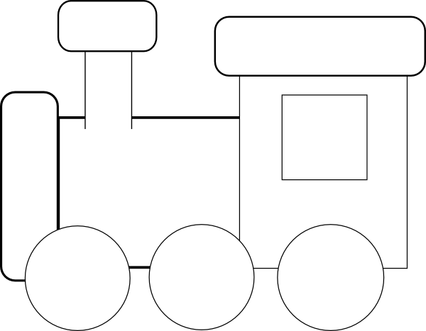 Passenger Train Clipart Black And White.