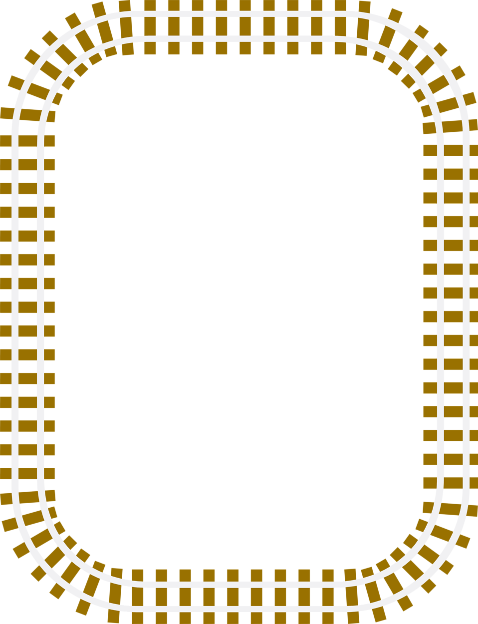 Illustration of a blank railroad track frame border : Free Stock.