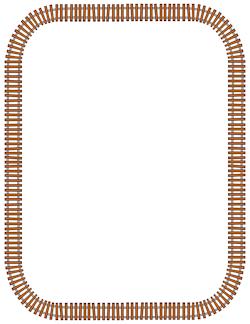 Train Track Border.