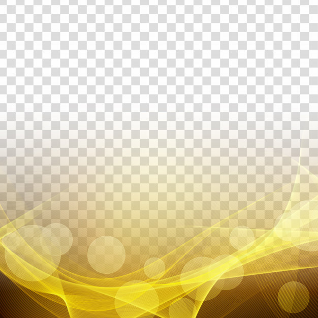Abstract modern glowing wave transparent background Vector.