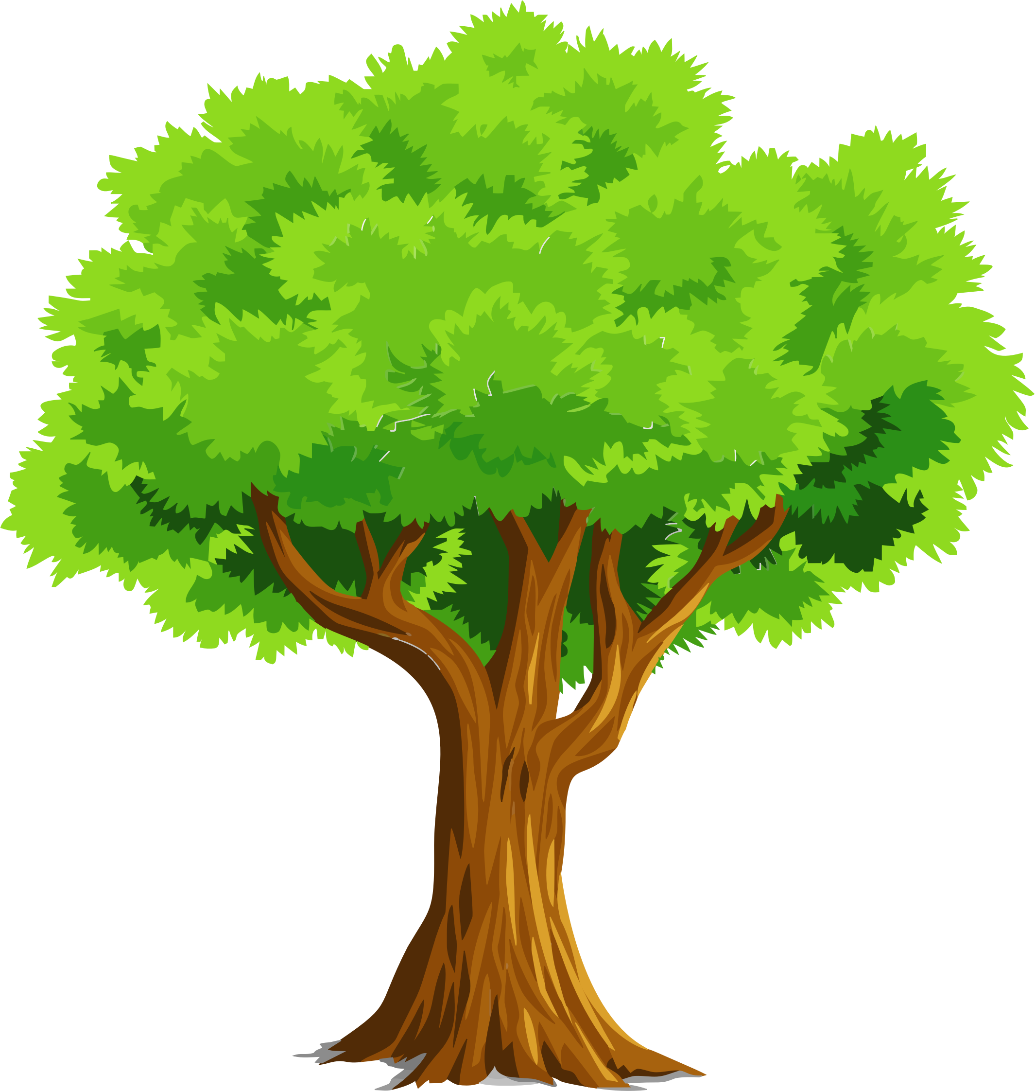 Colorful Natural Tree Vector Clipart image.