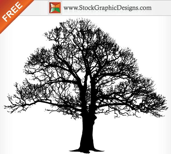 Free Tree Silhouette Clip Art.
