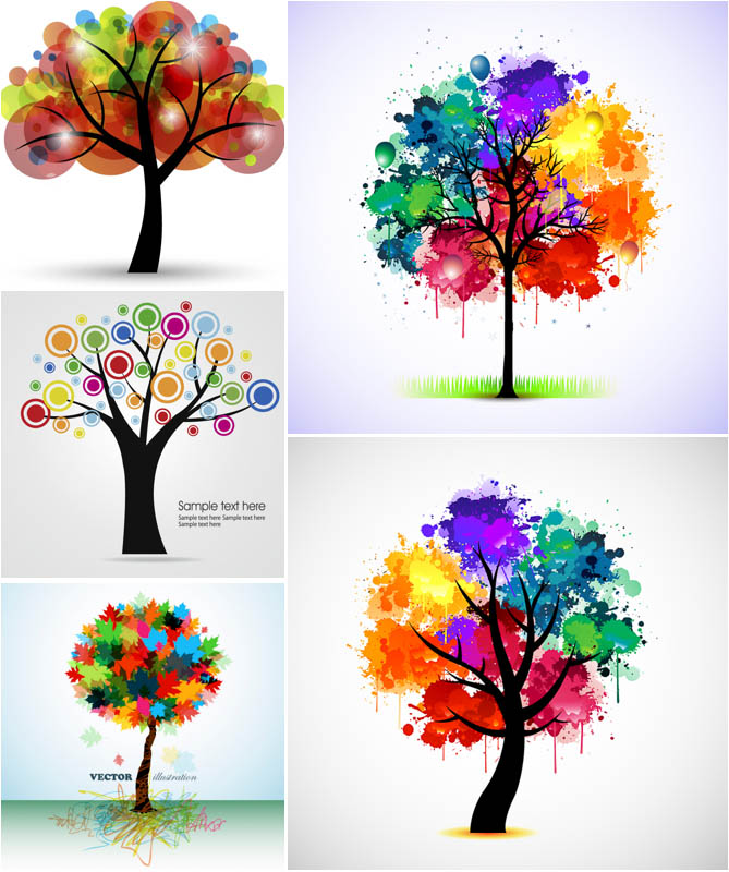 Free Tree Watercolor Clipart.