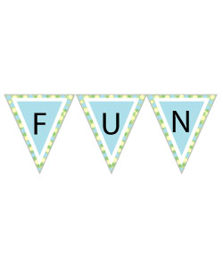 Free Birthday Clipart! Printable favor tags, pennant banners.