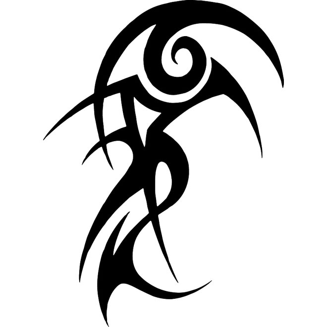 Tribal tattoo free vector image.