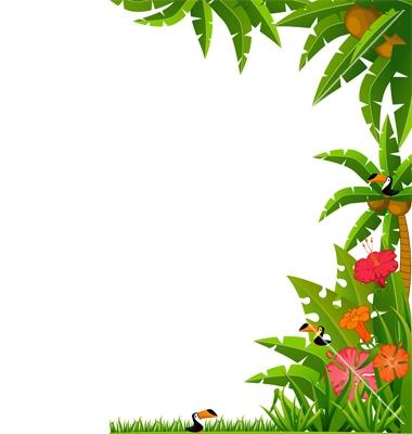 Free Tropical Border Cliparts, Download Free Clip Art, Free Clip Art.