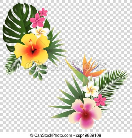 234 Tropical Flower free clipart.