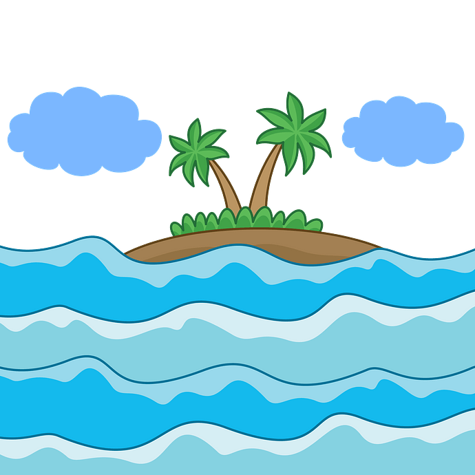 Tropical Island clipart. Free download..