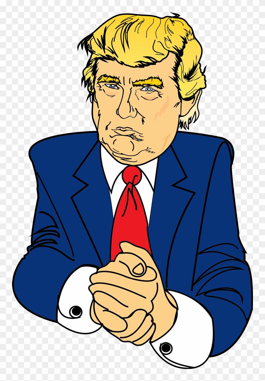 Free Serious Looking Donald Trump Clip Art.