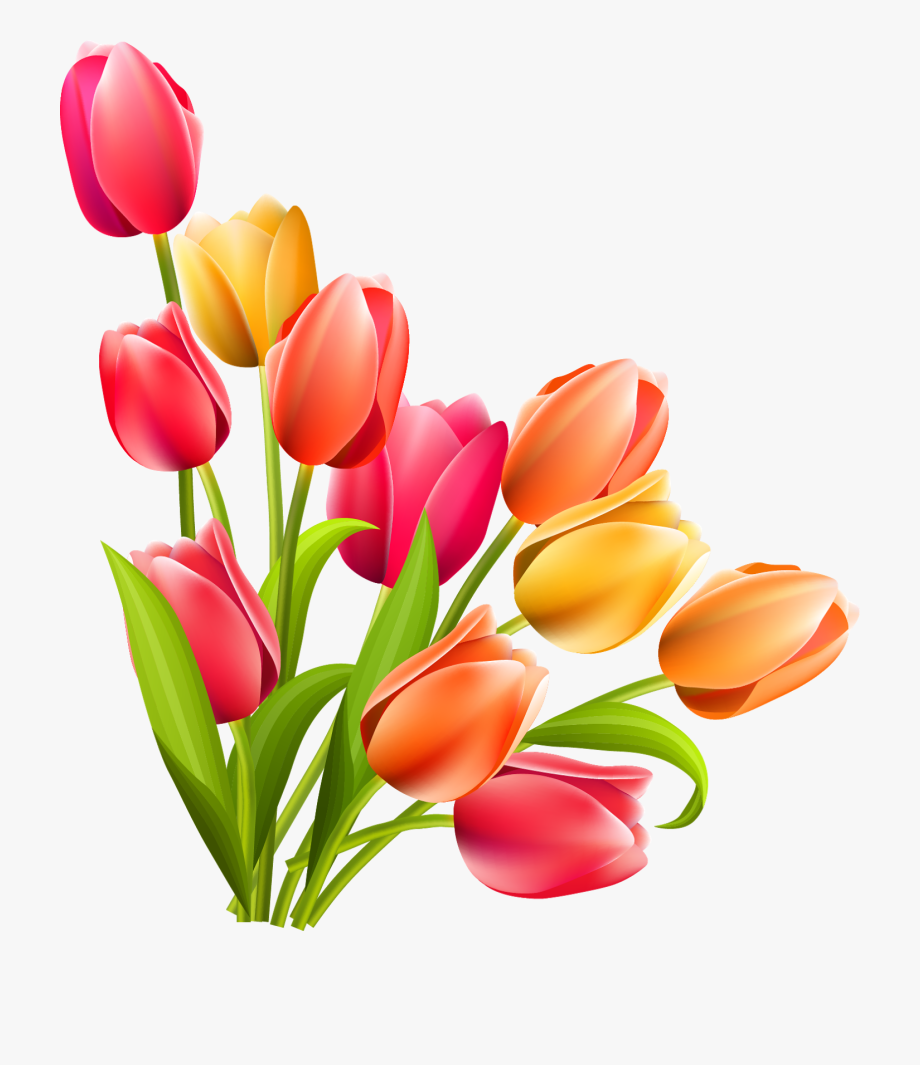 Easter Clip Art Free, Tulip Clipart, Flower Clipart.