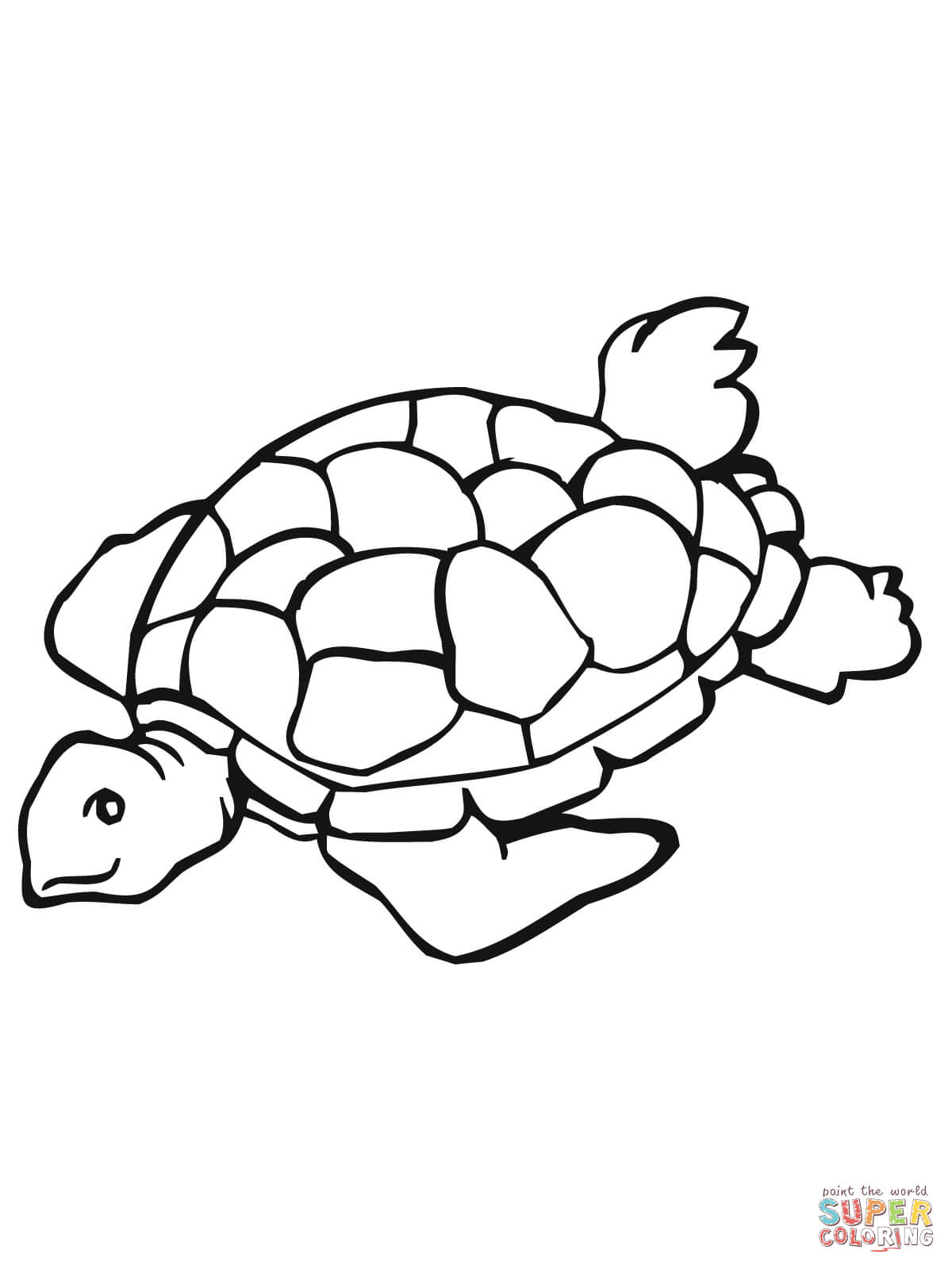 Turtle Clipart Black And White.