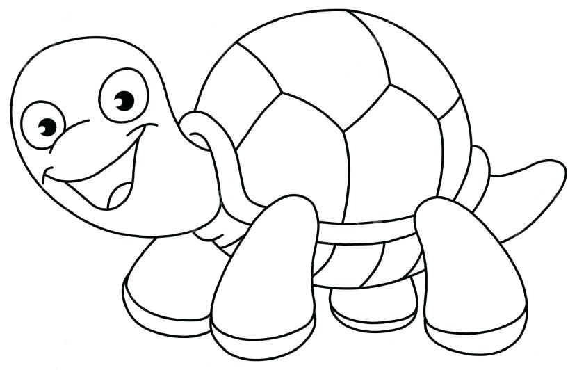 Turtles clipart black and white.