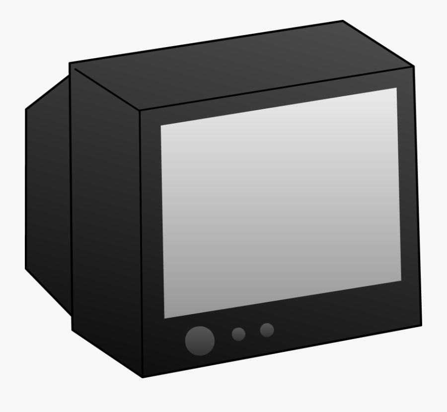 Simple Black Television Clip Art Free Clip Art.