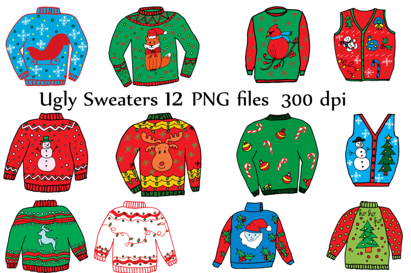 Free Ugly Christmas Sweater Clipart Crafter File.
