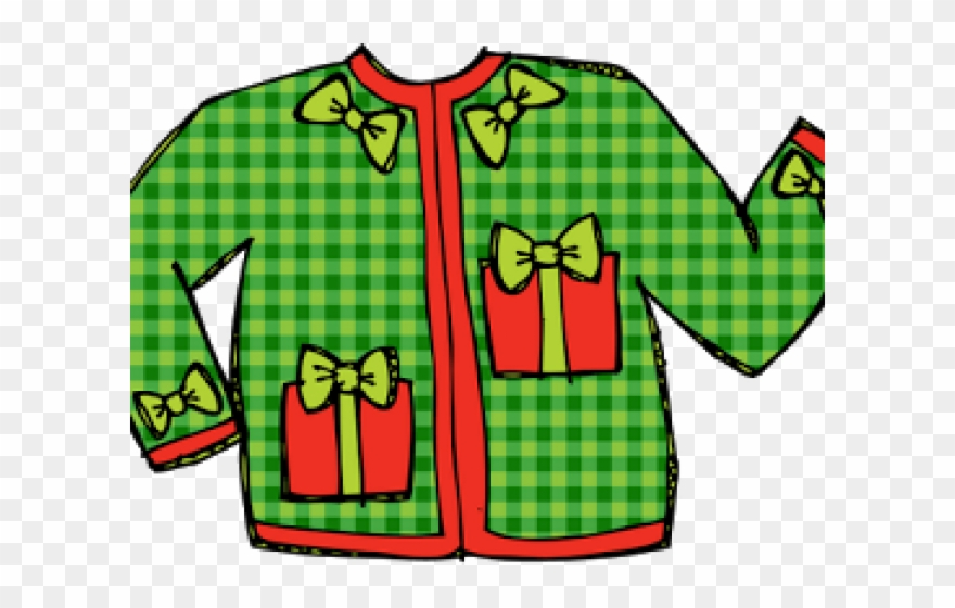 Transparent Ugly Sweater Clipart.
