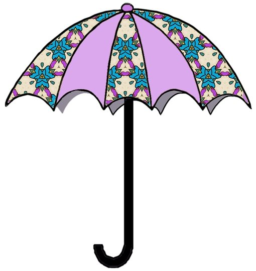 April Umbrella Clipart.
