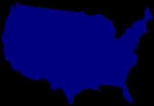 Blue United States Clip Art at Clker.com.