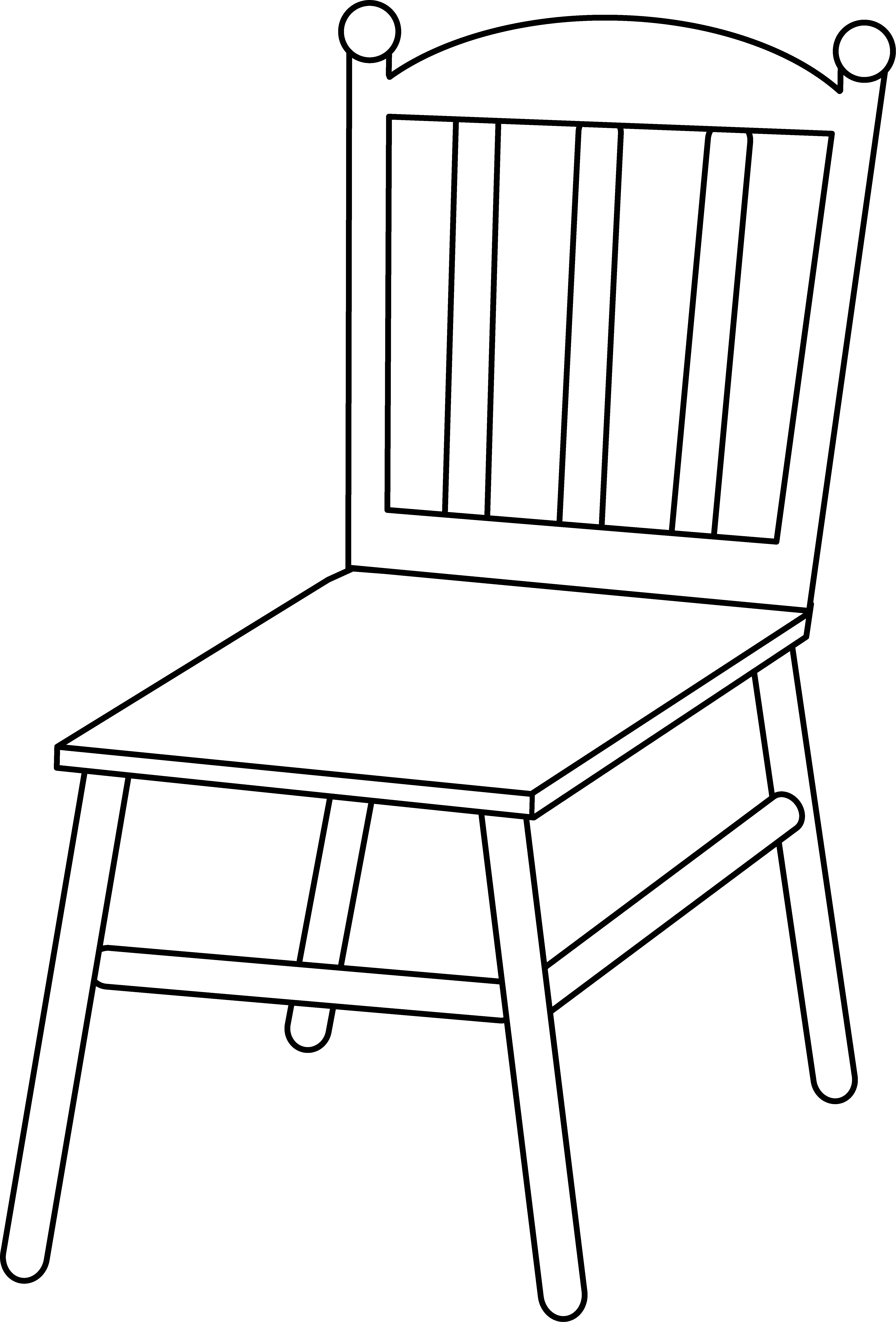 Chair Line Art.