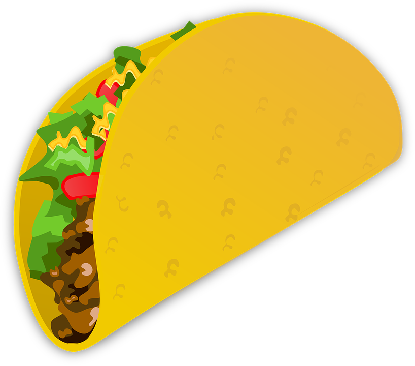 Free vector graphic: Taco, Wrap, Food, Mexican.