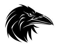 Raven Bird Silhouette Stock Vector.