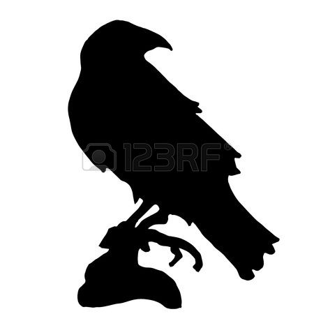 433 Raven Head Stock Vector Illustration And Royalty Free Raven.