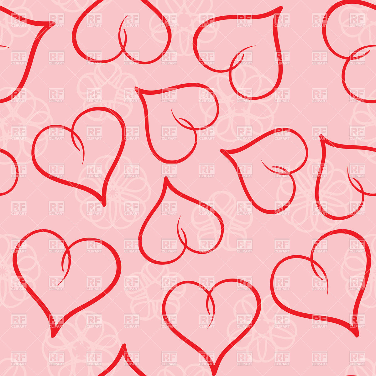 Valentine's day seamless background Stock Vector Image.