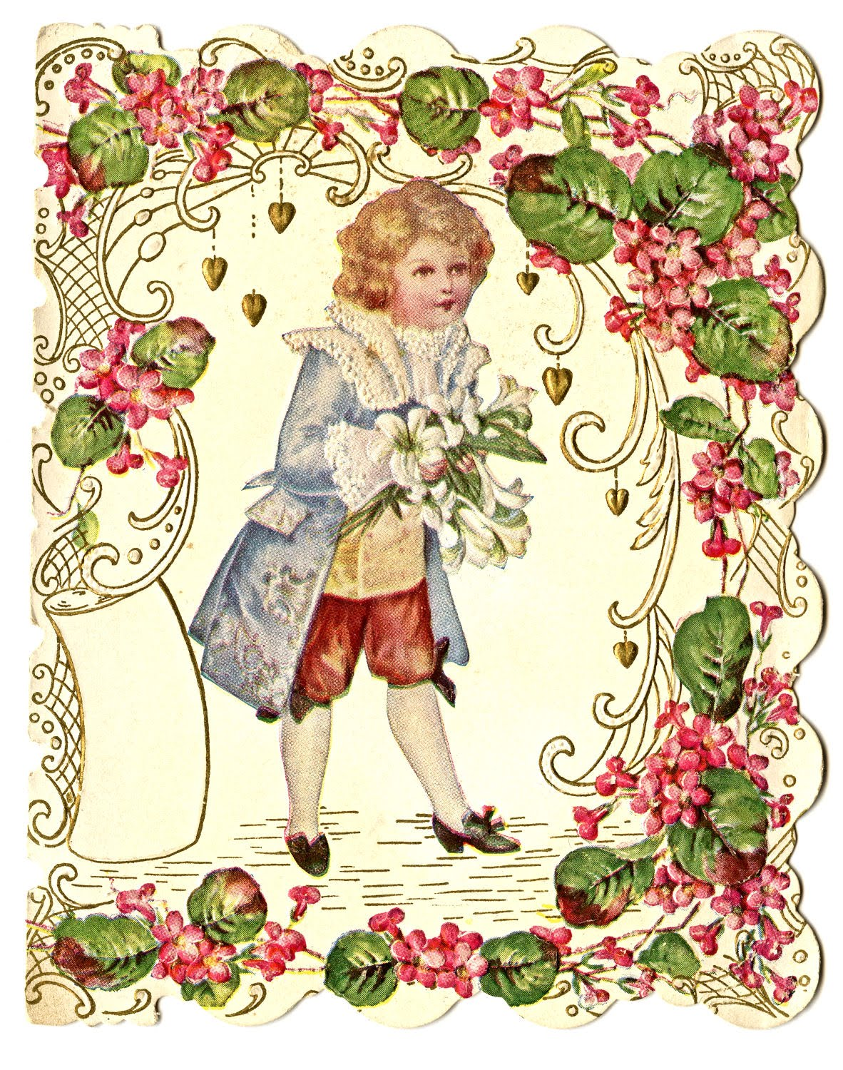 Free Vintage Valentines Day Clipart.