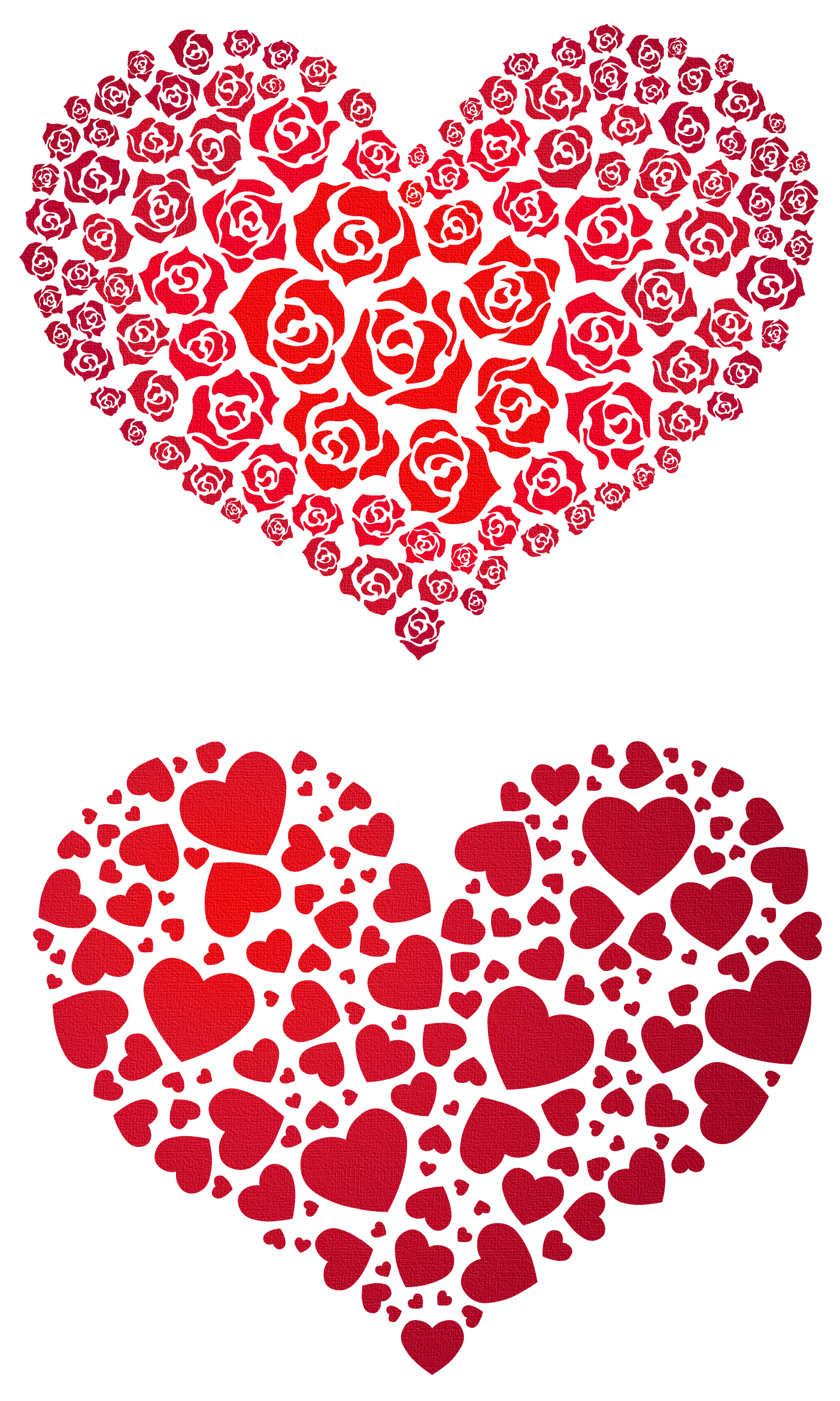 Valentine Hearts PNG Clipart.