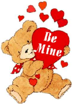 Free Valentine Clipart Picture of a Stuffed Bear Holding a Heart.