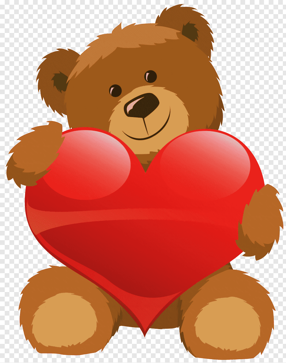 Teddy bear Valentine\'s Day Heart, Cute Bear with Heart, bear.