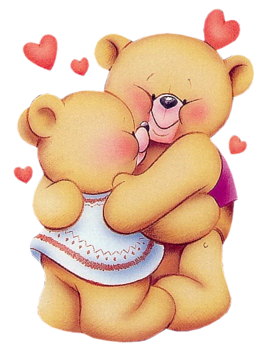 Valentine Teddy Bears PNG Clipart Picture.