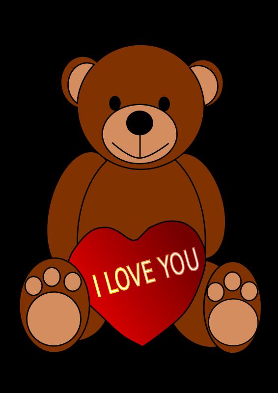 Free Clipart: Valentine\'s Day Teddy Bear.