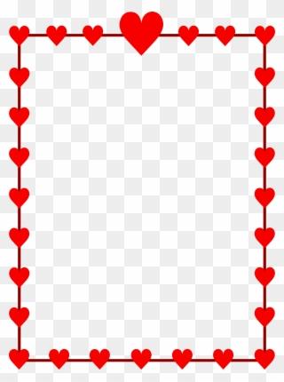 Free PNG Valentines Border Clip Art Download.