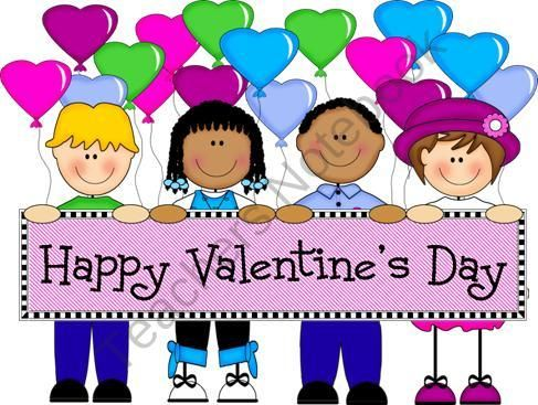FREE Kids with Heart Holding Valentine\'s Day Banner product.