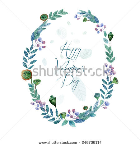 Colorful Watercolor Wreath Stock Images, Royalty.