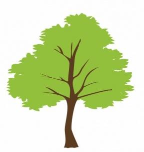 Free Vector Black White Shade Tree Clipart.