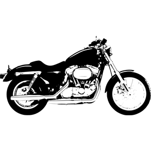 Harley Davidson Sportster clipart, cliparts of Harley Davidson.