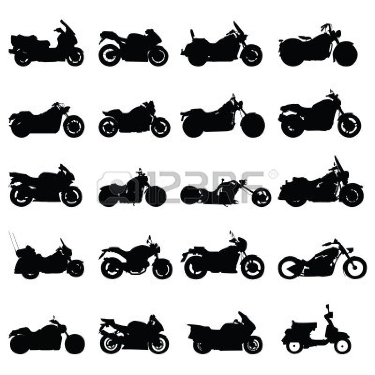 18 Motorcycle Clip Art Vector Graphics Images.