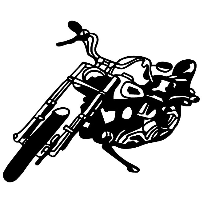 Free Vector Clipart Silhouette Harley Motorcycle Clipground