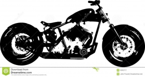Free Vector Clipart Silhouette Motorcycle.